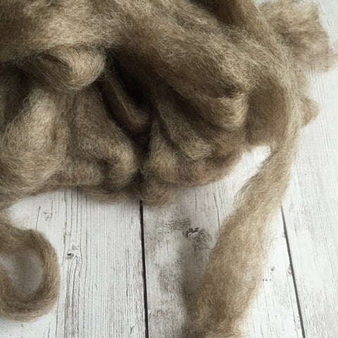 Romney Wool Roving - Grey/Moorit  - 2 oz