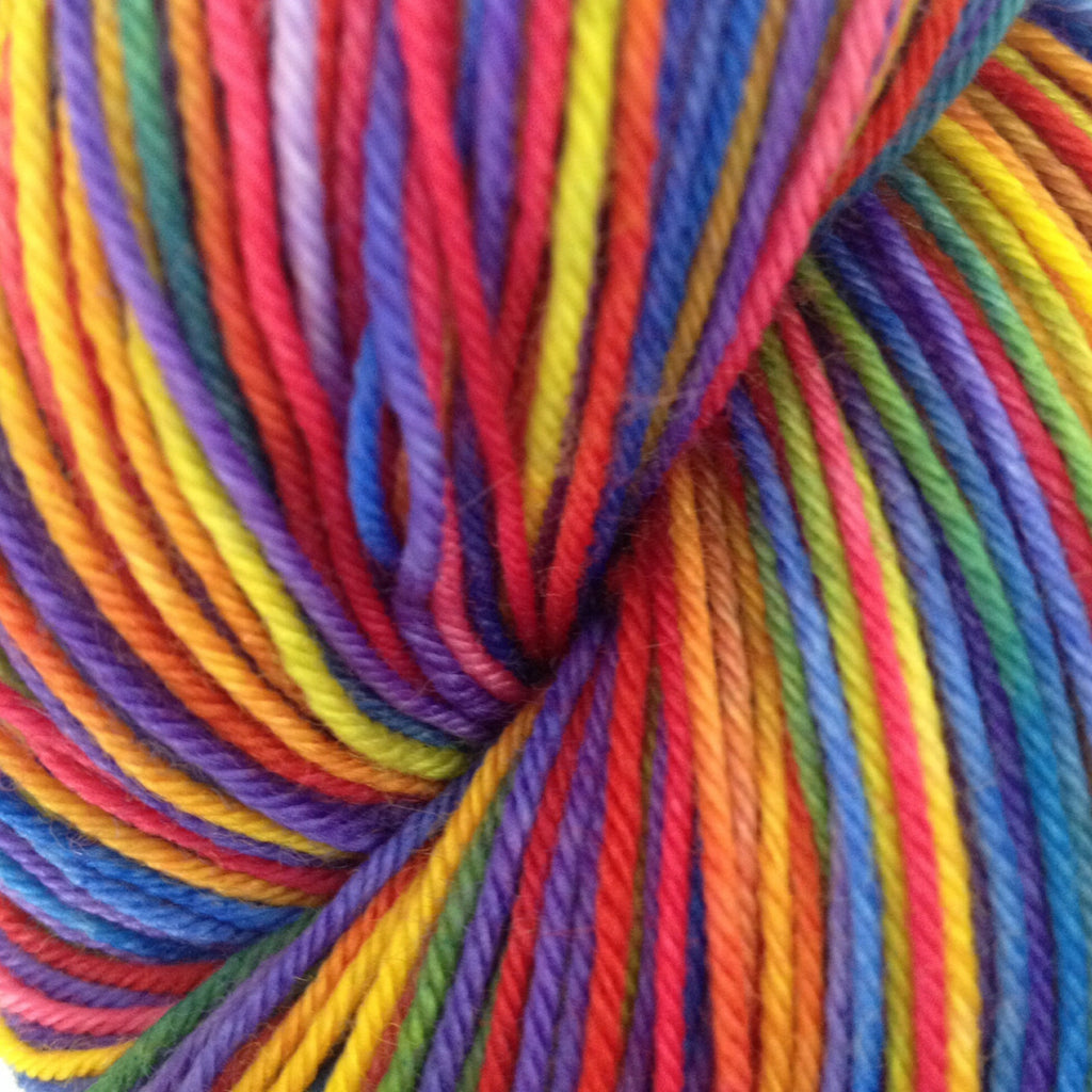 Rainbow - Fing/Sock Hand Painted 463 yds RTS