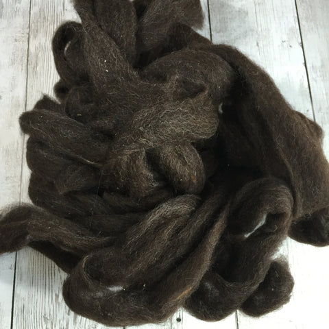 Coopworth Hogget Wool Roving   - 2 oz - Bay Black