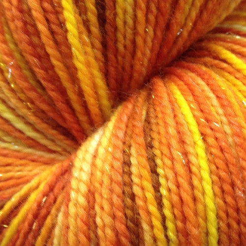 Harvest Gold -   Fingering/Sock hand painted yarn 438 yds RTS