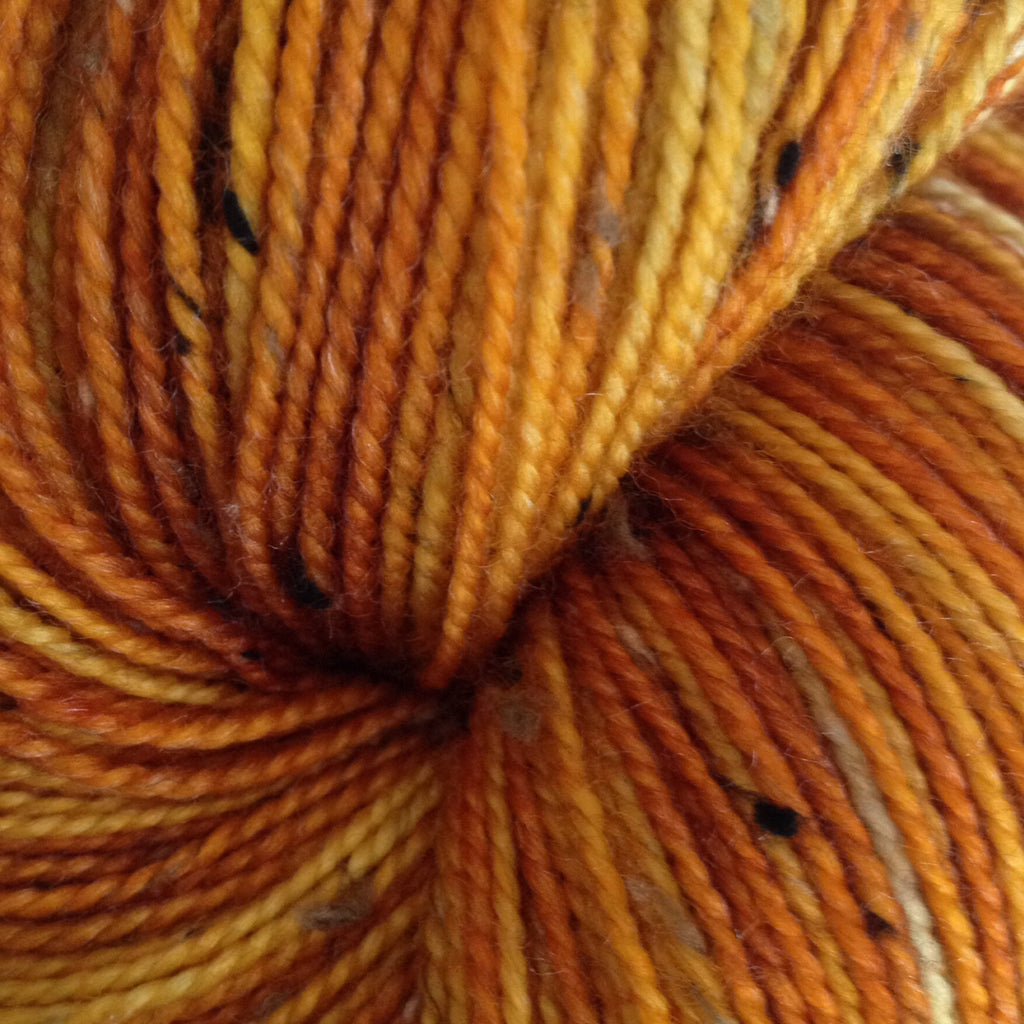 Semi Solid Oranges -  Fing/Sock Hand Painted 438 yds  RTS