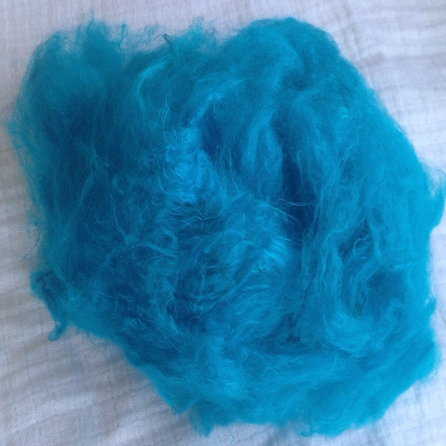 Soffsilk™ -TURQUOISE - Premium Carded Silk Waste - Latest Craze