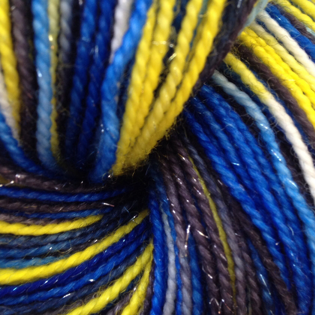 Starry Night Sparkle Sock™-  Fing/Sock Hand Paint 438 yds  RTS