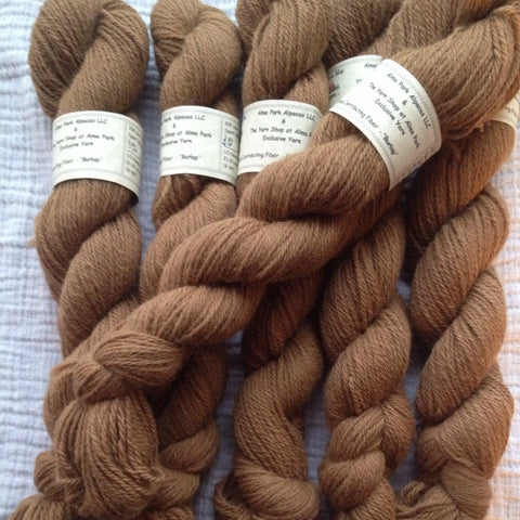 100% Superfine Alpaca Yarn from BURLAP - 3 ply Sport - 200 yds