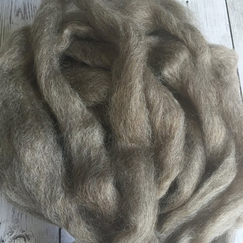 Coopworth roving - Grey (moorit) - 2 oz - spin/felt
