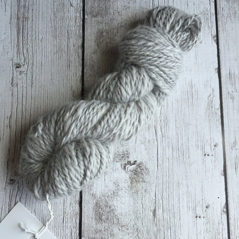 Worsted Mini  - Alpaca and Icelandic Wool - Pale Grey- 51 yds 1.1 oz  (M0207)