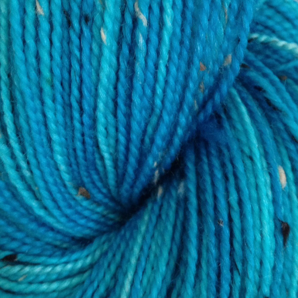 Semi Solid Turquoise -  Fing/Sock Hand Painted 438 yds  RTS