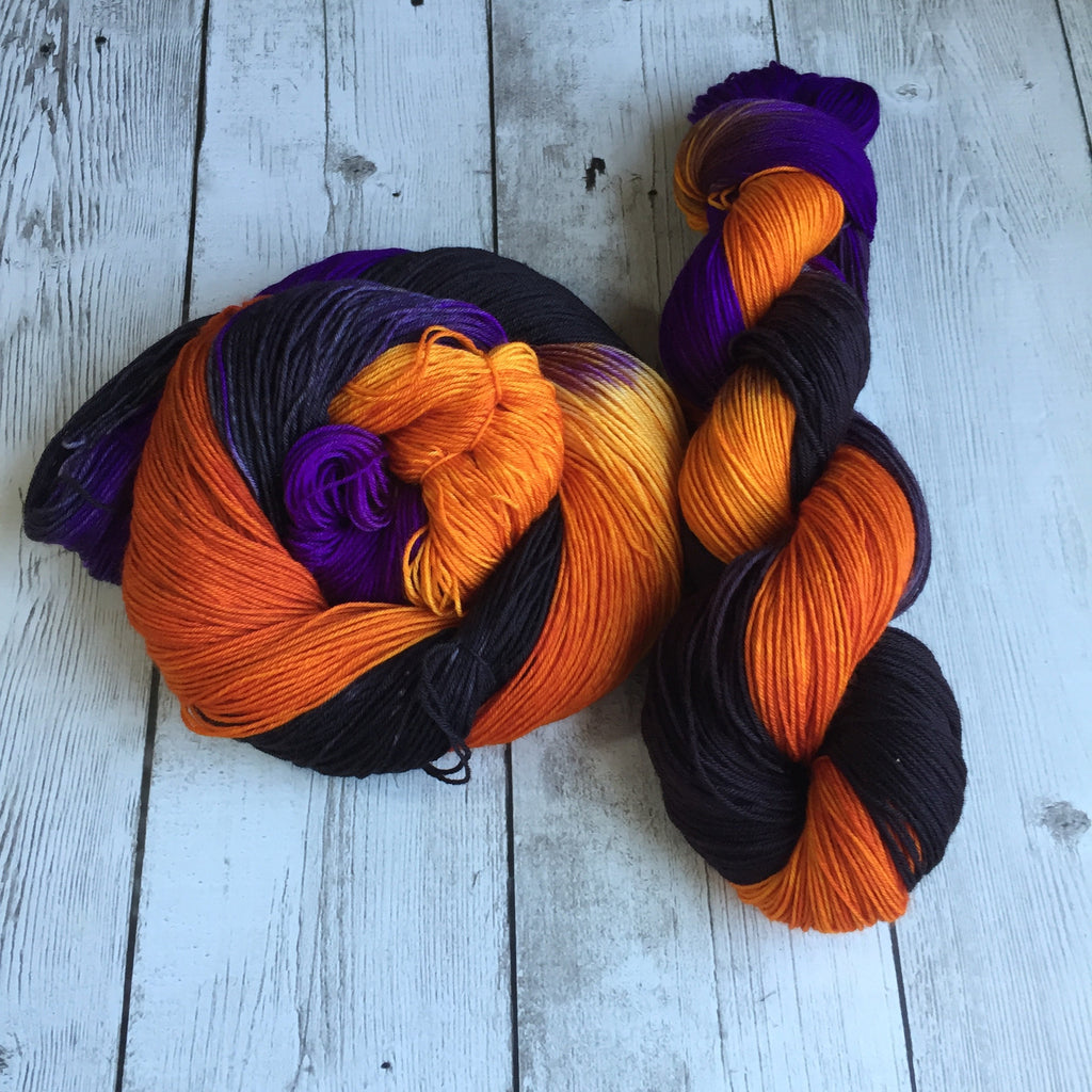 Midnight on Halloween™-  Fing/Sock Hand Painted 463 yds  RTS (828)