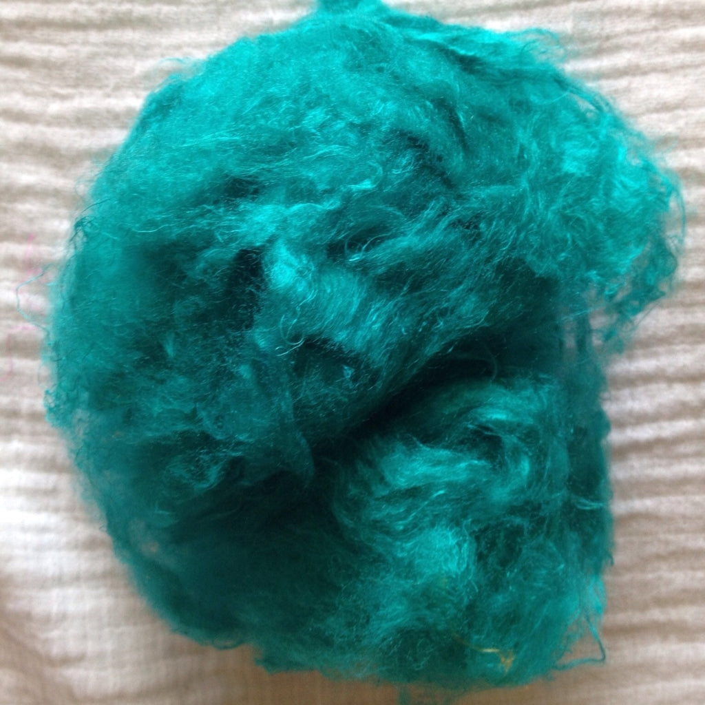 Soffsilk™ -TEAL - Premium Carded Silk Waste - Latest Craze