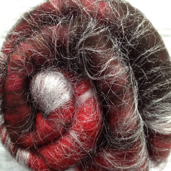 Baby Alpaca/Soffsilk/Spark Red Drone Dalek (smooth) 2 oz or 8 gr