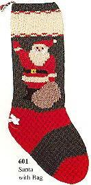 "Christmas Stocking ""Santa With Bag"" KIT"