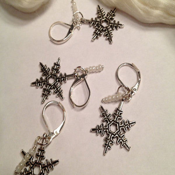 Knit Bling Removable or Regular (SNOW FLAKES) - Set Of 5