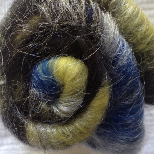 RETIRING - Baby Alpaca/mer/silk/spark-Starry Night (Smooth)- 2oz or 8 gr