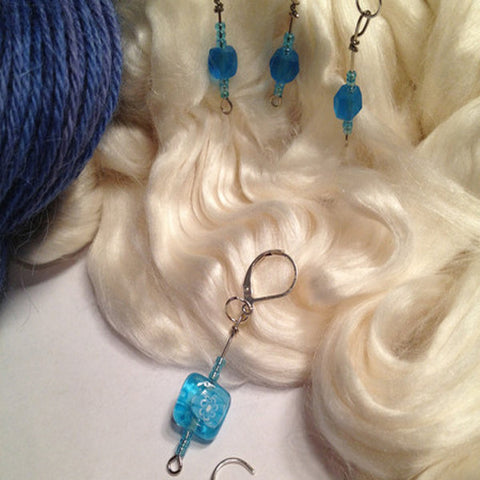 Knit Bling Removable Stitch Markers (Blue) Set Of 5