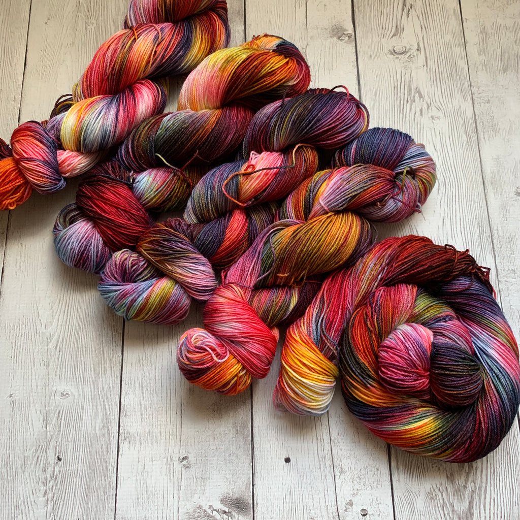 SOCK WEIGHT - HARVEST RAINBOW™ Kettle Dyed Fing/Sock Hand Paint - 463 yds RTS (101119)