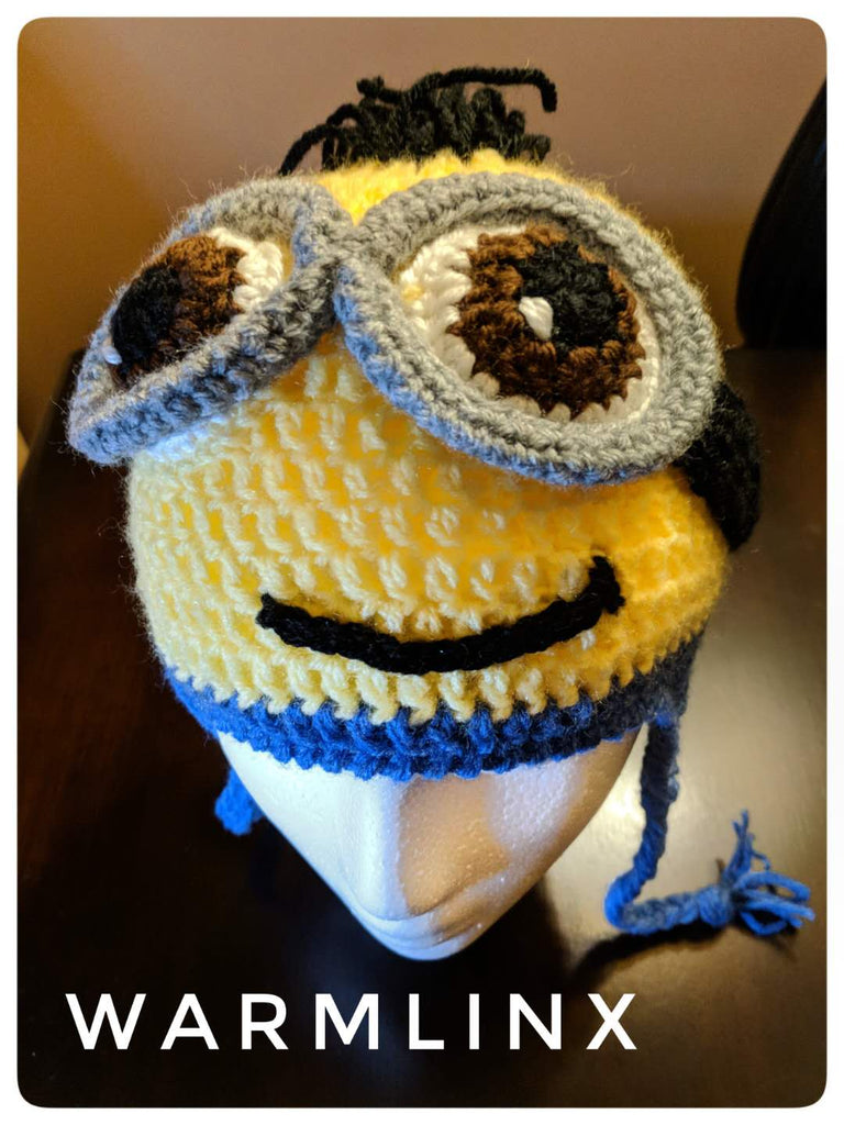 Minion Crochet Hat with detachable goggle PATTERN