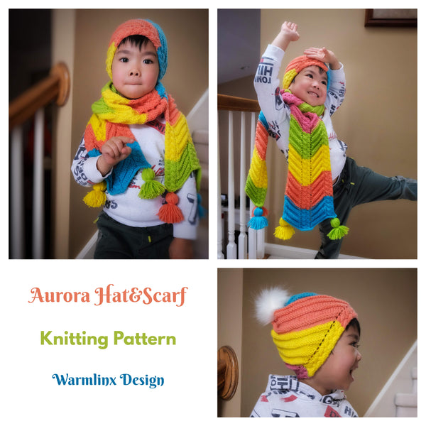 Aurora Hat and Scarf Knitting Pattern