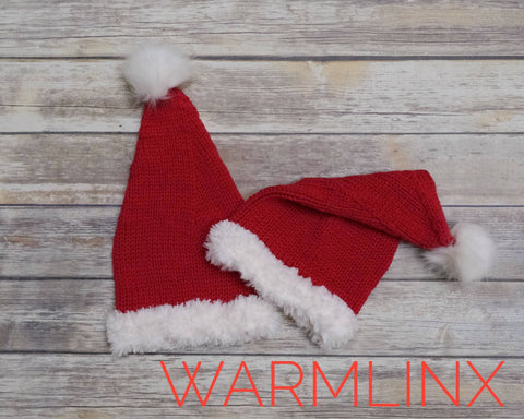 Santa Hat Knitting Pattern FREE