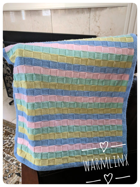 4-color Block Baby Blanket FREE