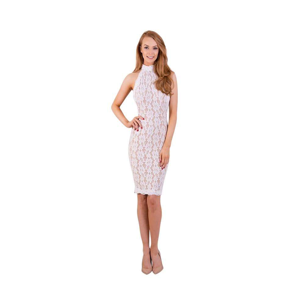 ENCORE HALTER COCKTAIL DRESS - Debbie Carroll