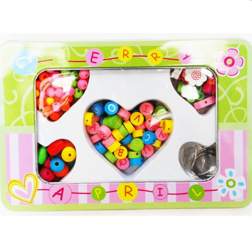 Letter Beads in Tin Box