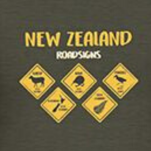 Kids - Roadsigns Tee - Charcoal Marle