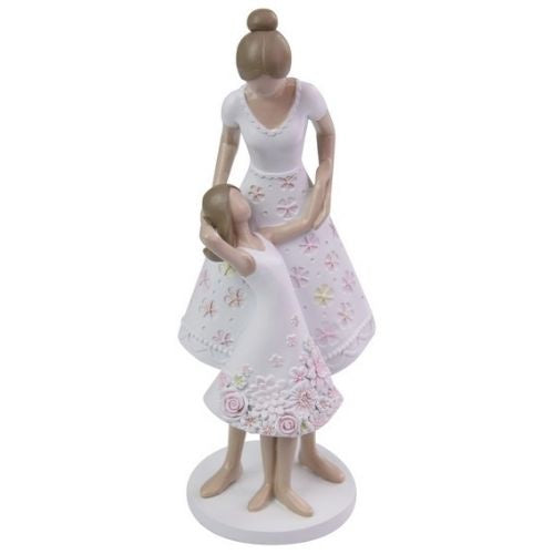 Mother & Daughter in Pose Figurine - 23cm