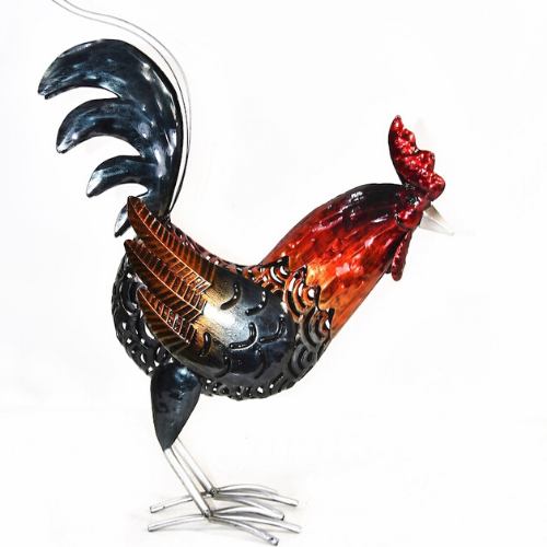 Coloured Metal Rooster