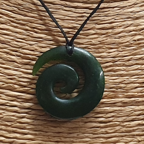 NZ Greenstone Koru Pendant - 25mm