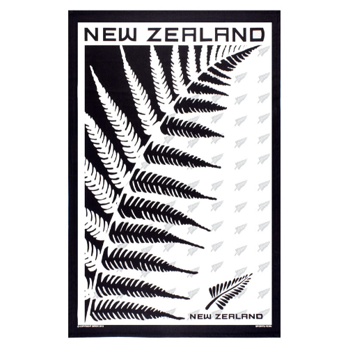 NZ Sports Fern Tea Towel