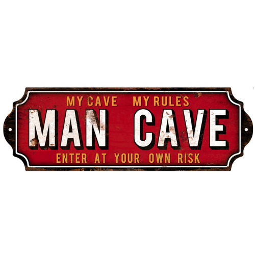 Mancave Embossed Tin Sign