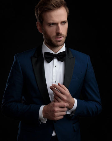Men Wearing Nave Blue Tuxedo