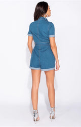 Denim Wrap Playsuit
