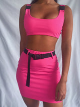 Simmi Neon Co-ord in Pink