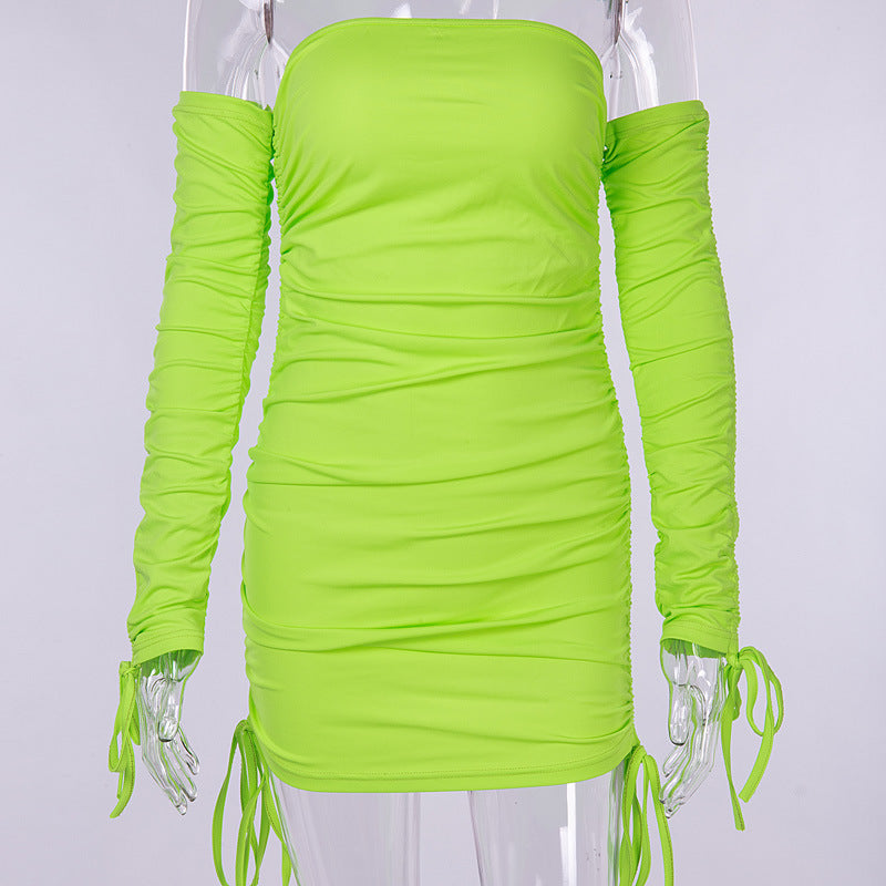Neon Bardot Dress