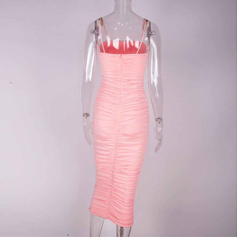 Ruched Midaxi Dress