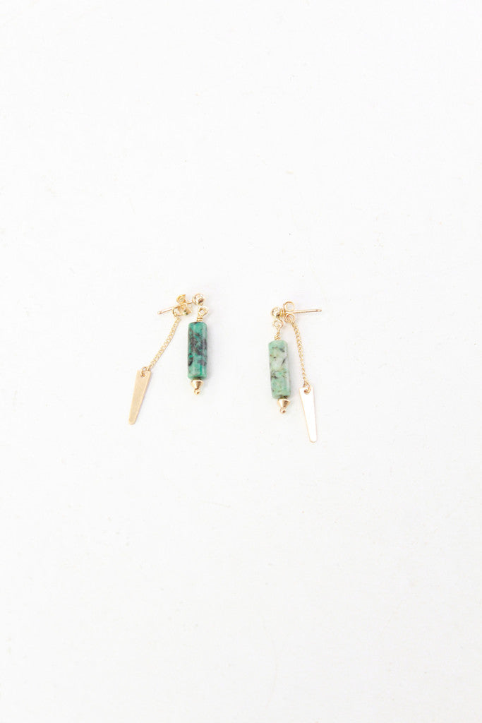 Turquoise Double Drop Earrings Petite Grand At Beklina