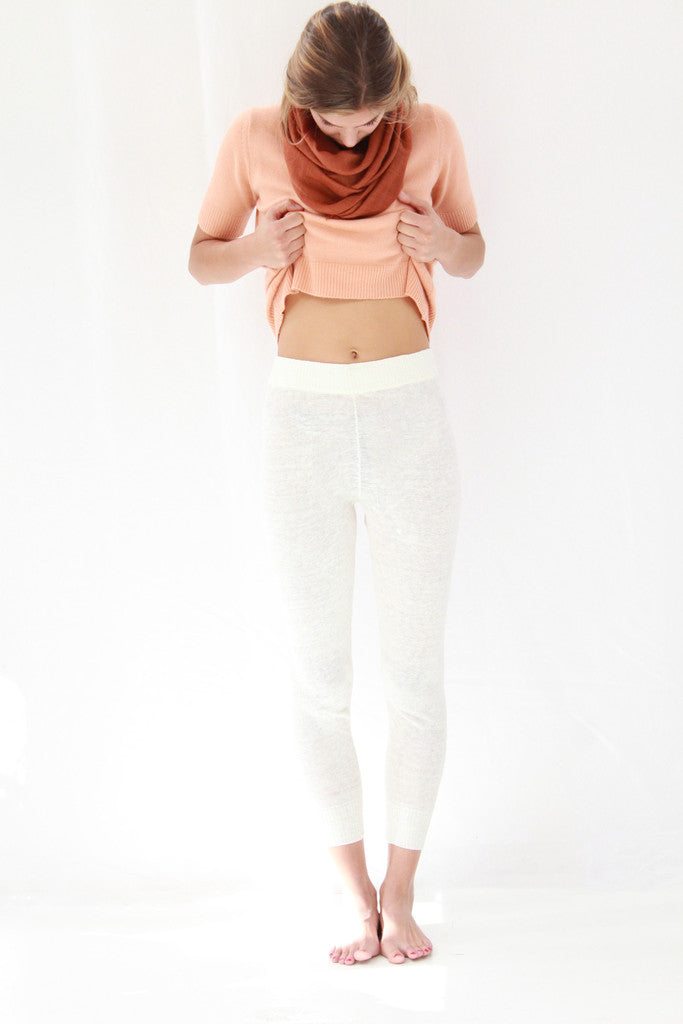 lina rennell linen knit sweats