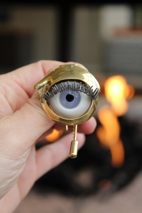 Beatriz Palacios Eye Brooch At Beklina