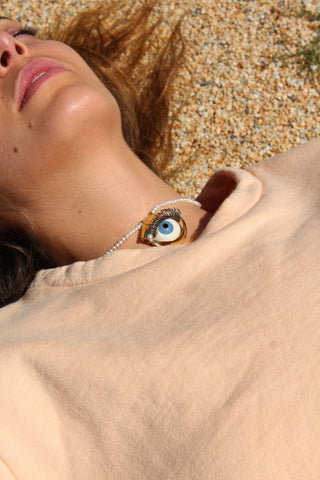 Beatriz Palacios Eye Necklace