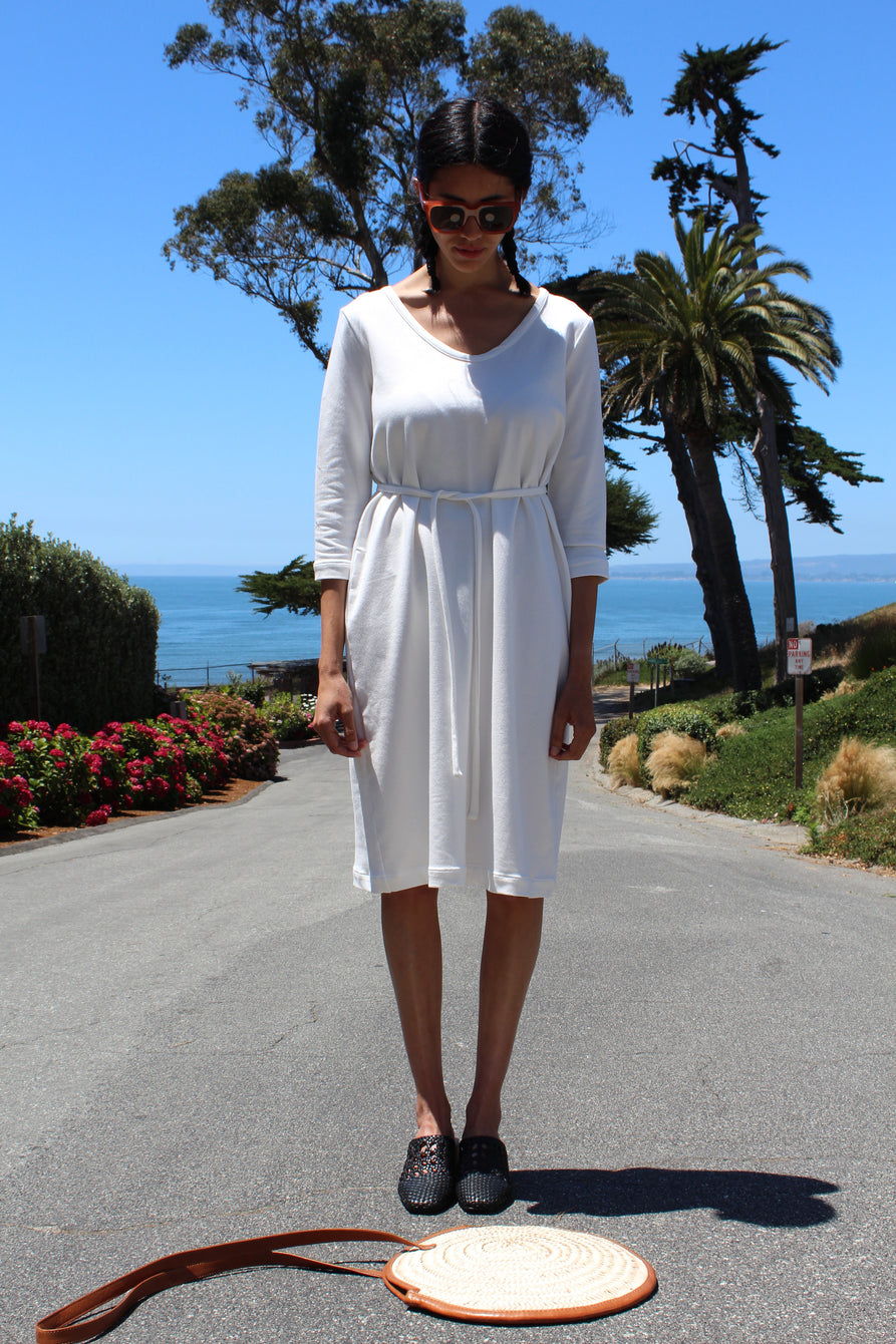 Beklina French Terry Dress White
