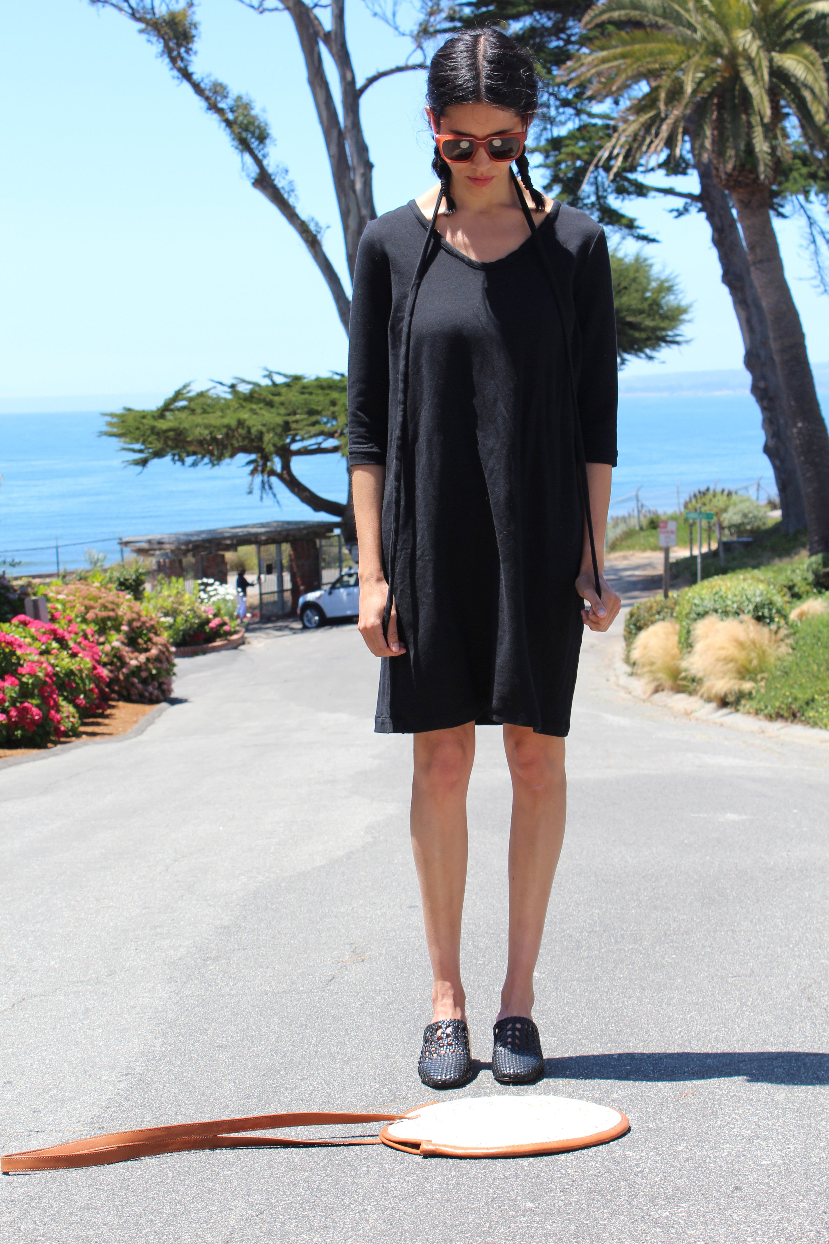 Beklina French Terry Dress Black