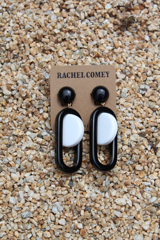 Rachel Comey Lohr Earrings Black And White