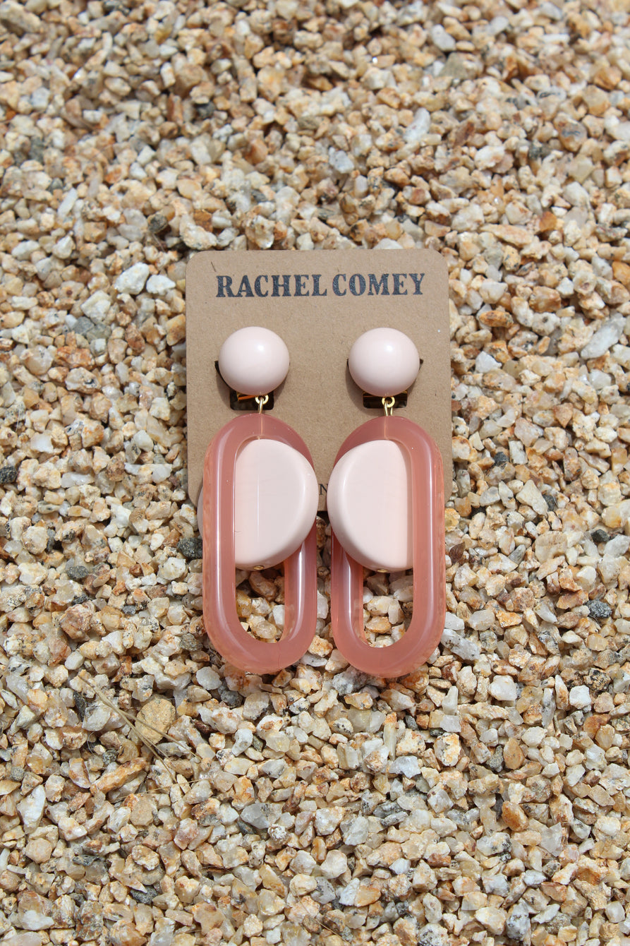 Rachel Comey Lohr Earrings Pink At Beklina