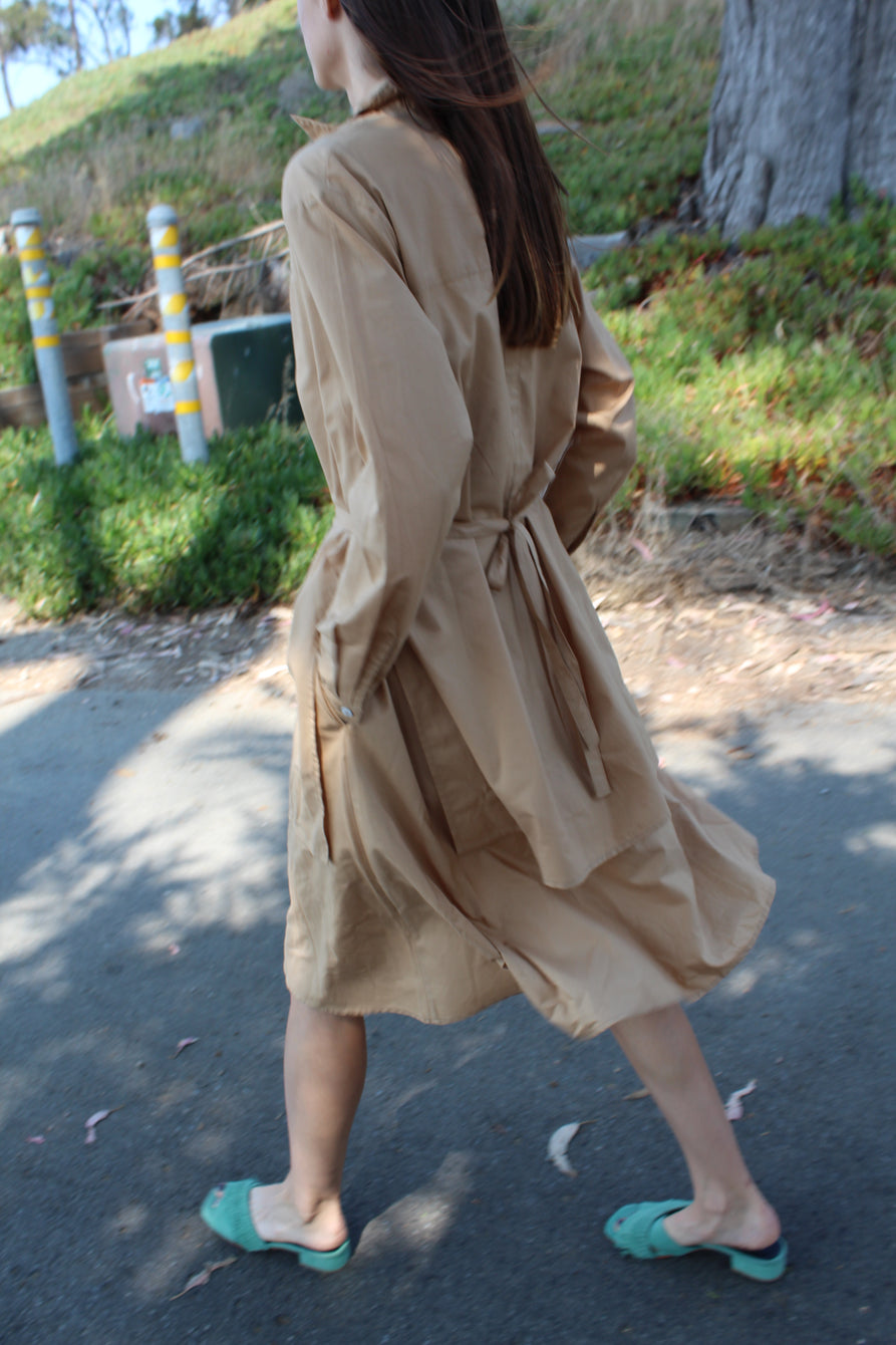 Kowtow Rhyme Dress Tan