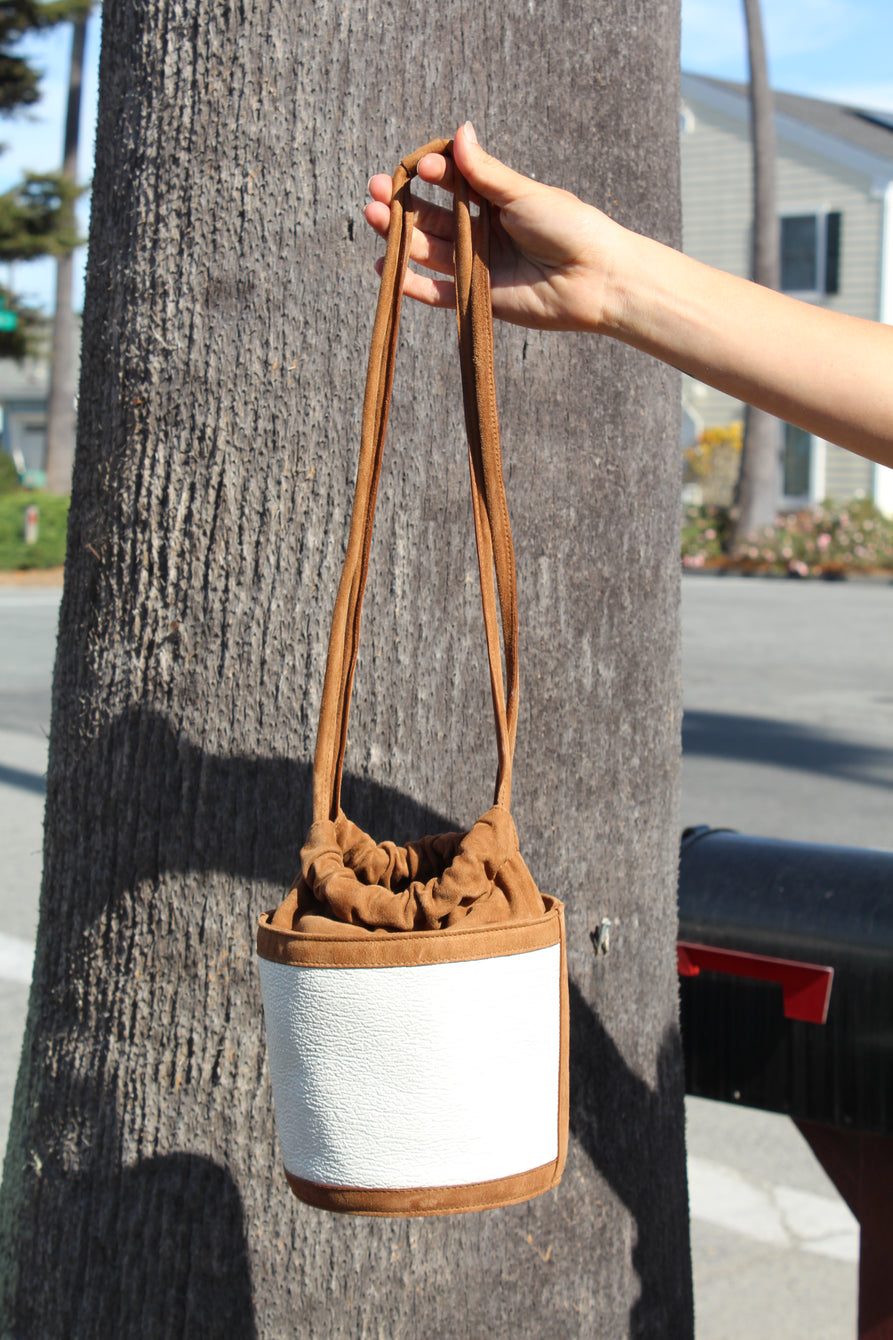 MNZ Park Bucket Bag White/Brown