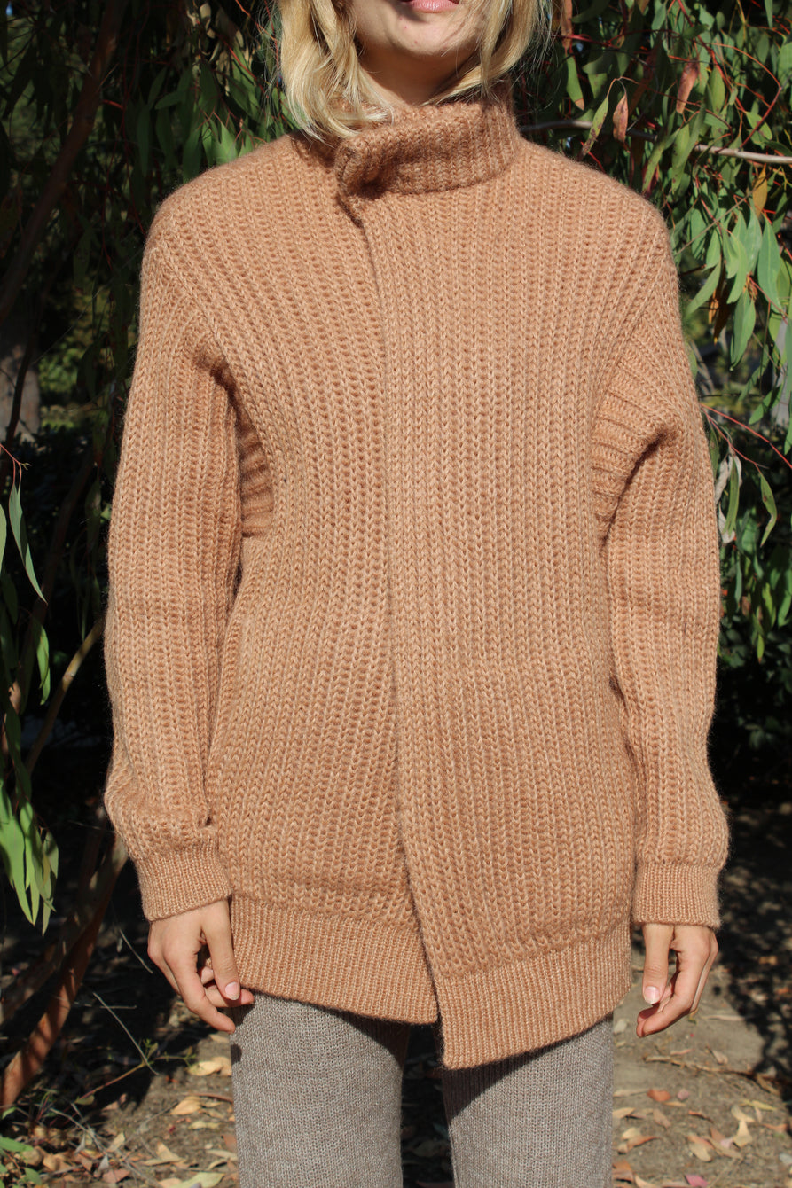 Reality Studio Iris Knit Jacket Camel