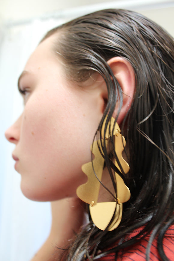 Annie Costello Brown Matisse Earrings Gold