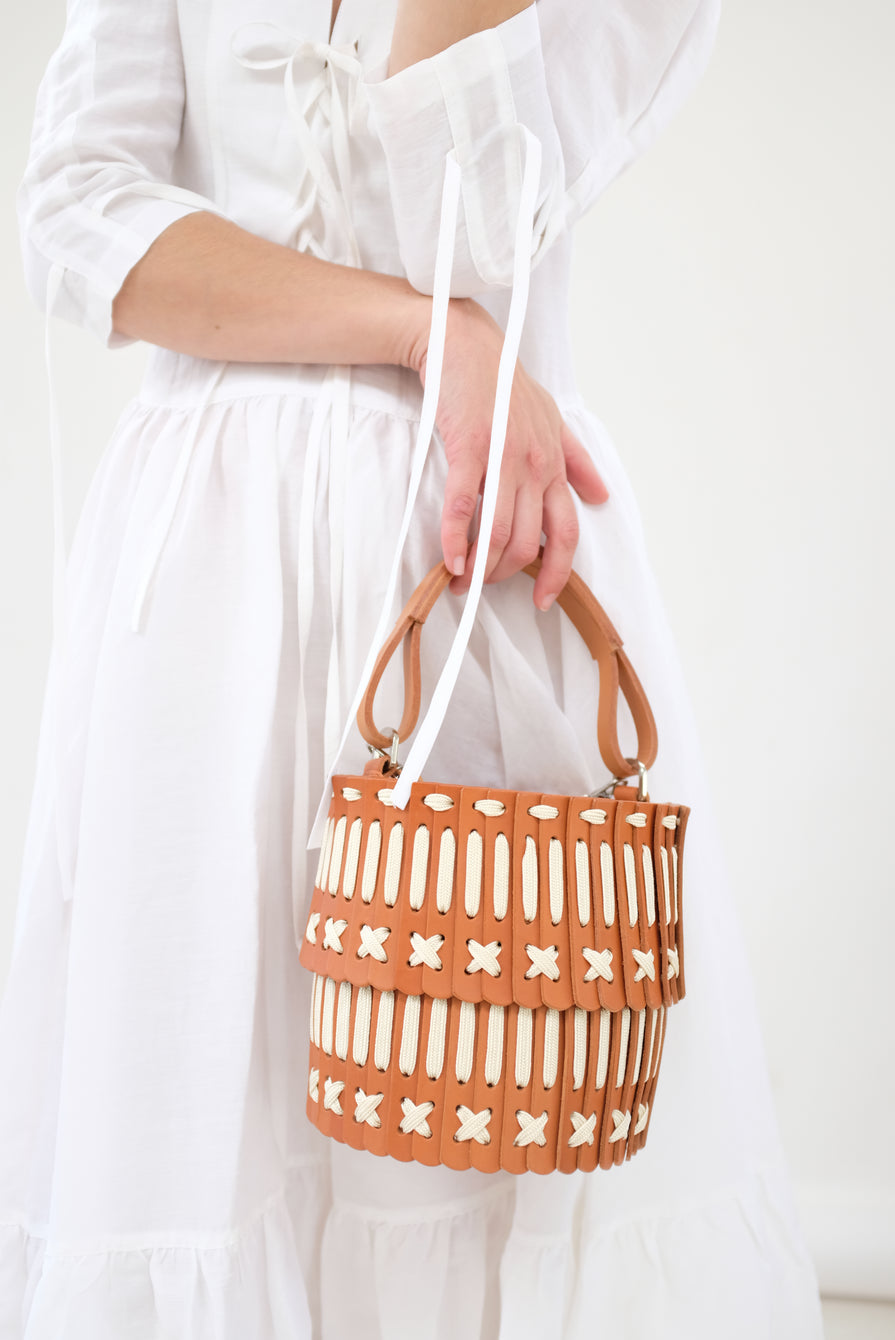 Hatori Basket Tan and Cream