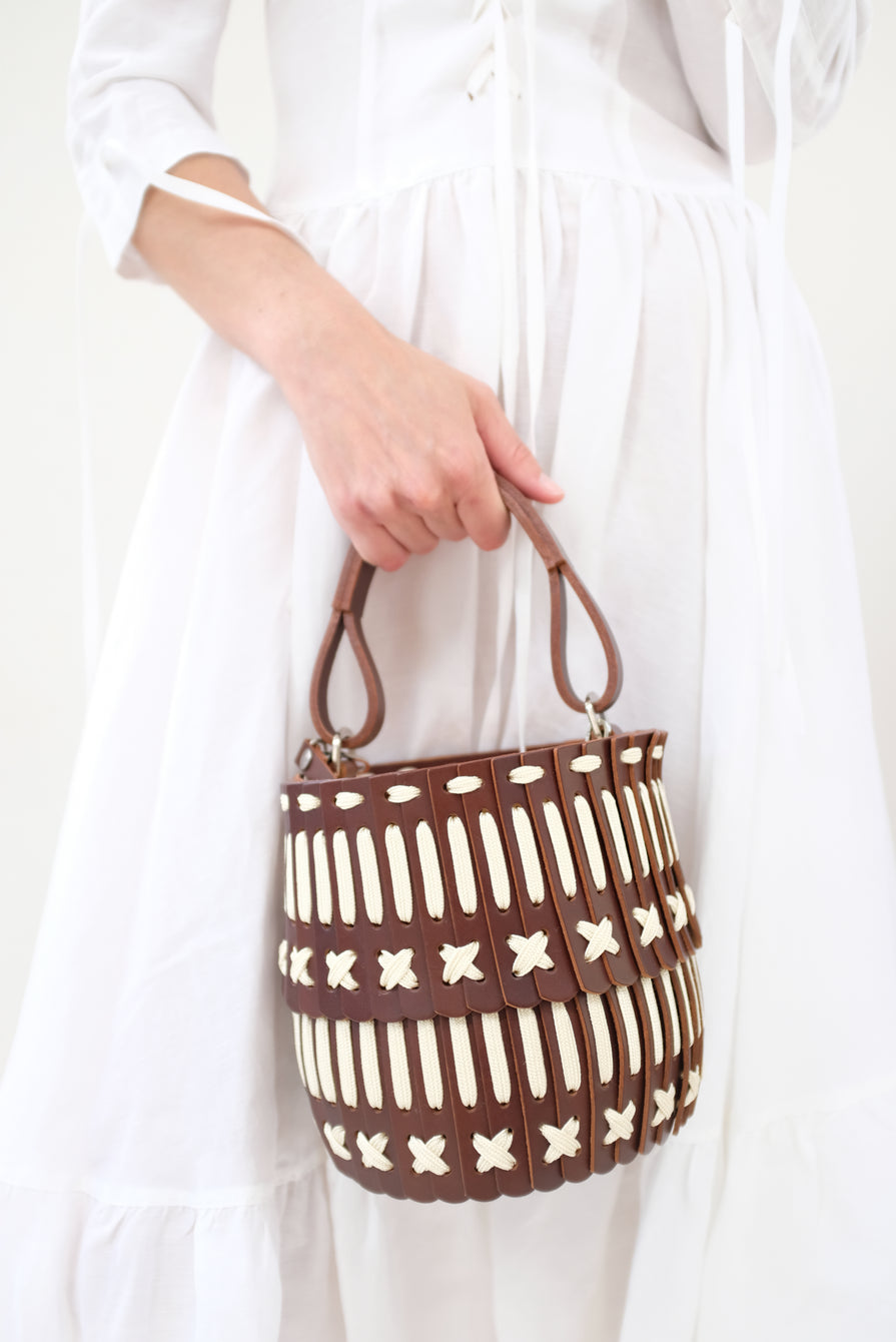Hatori Basket Brown and Cream